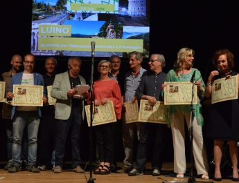 La cerimonia di premiazione dell'Earthprize 2018 a Luino