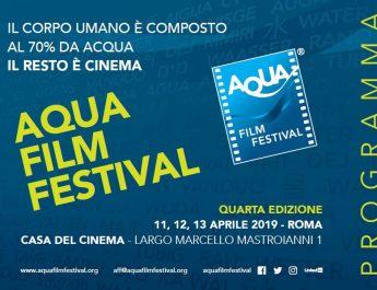 Acqua e cinema protagonisti all'Aqua Film Festival 2019